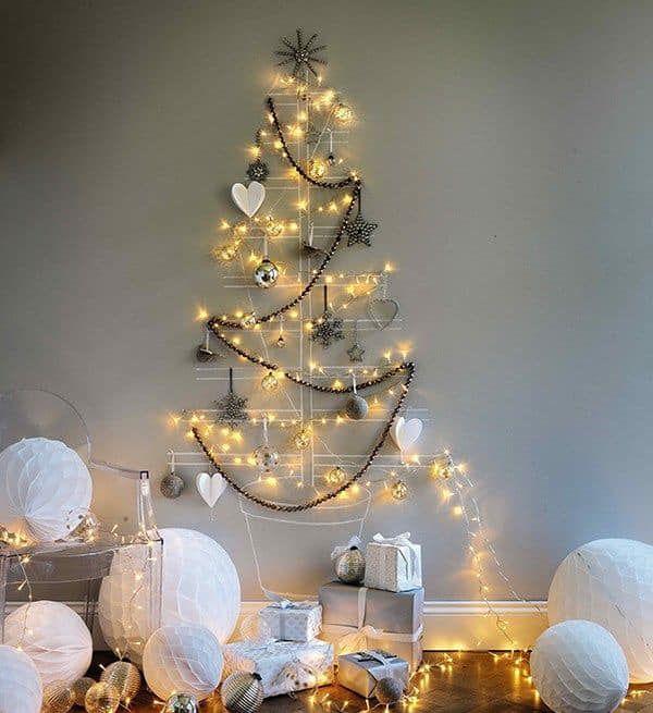 árbol De Navidad Para La Pared Diy Christmas Tree Creative Christmas Trees Alternative Christmas Tree