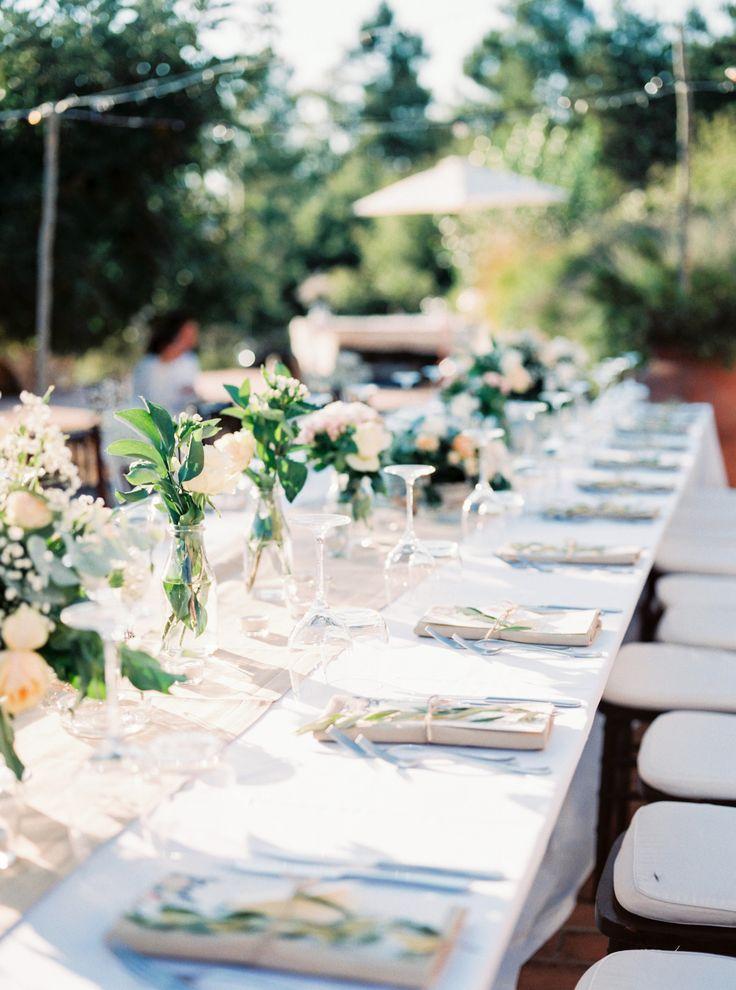 wedding in italy - wedding in tuscany - wedding reception - wedding table setting - wedding table decor - wedding menu - wedding calligraphy - olive branch decor  - wedding flowers - wedding floral decor - white wedding - wedding palette - wedding colors - wedding pastelph. Amanda Drost