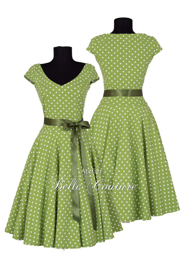 Entdecke lässige und festliche Kleider: 50er Jahre Jerseykleid Klara Frühjahr/Sommer made by Atelier Belle Couture 50er Jahre Petticoatkleider Rockabilly Kleider via DaWanda.com
