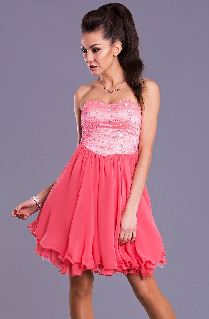 Luxury dress with strass and chiffon www.savelgo.it/essentialboutique