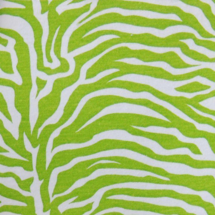 Fabric 65a Lime Green Zebra Print Animal Print