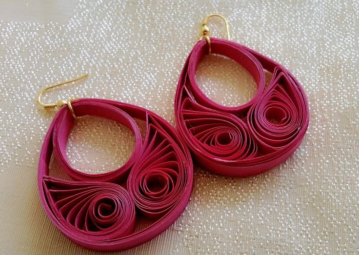 New Model quilling papers earring - Paper earrings making tutorial video