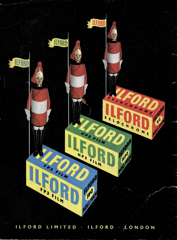 Ilford Films advert issued 1953