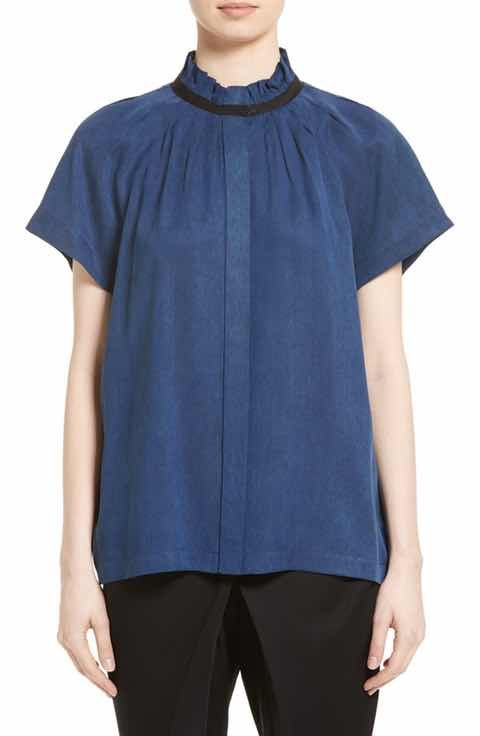Zero + Maria Cornejo Gabon Pintuck Shirt