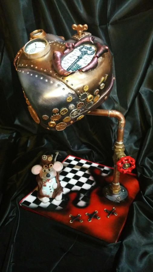 steampunk heart - Cake by MisdulcesSisi