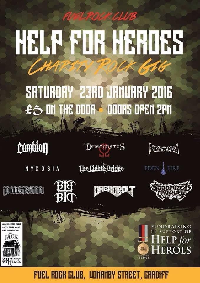 Student band Nycosia will play a Help For Heroes Fundraiser at Fuel in Cardiff on 23rd January!  On 30th January, they head to Bolton to play at The Alma Inn. Details here:   Good luck guys!