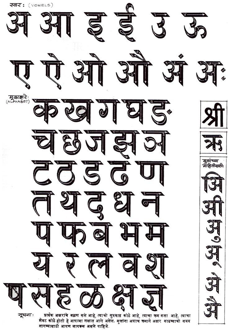 Best 25 Hindi Font Ideas On Pinterest Marathi