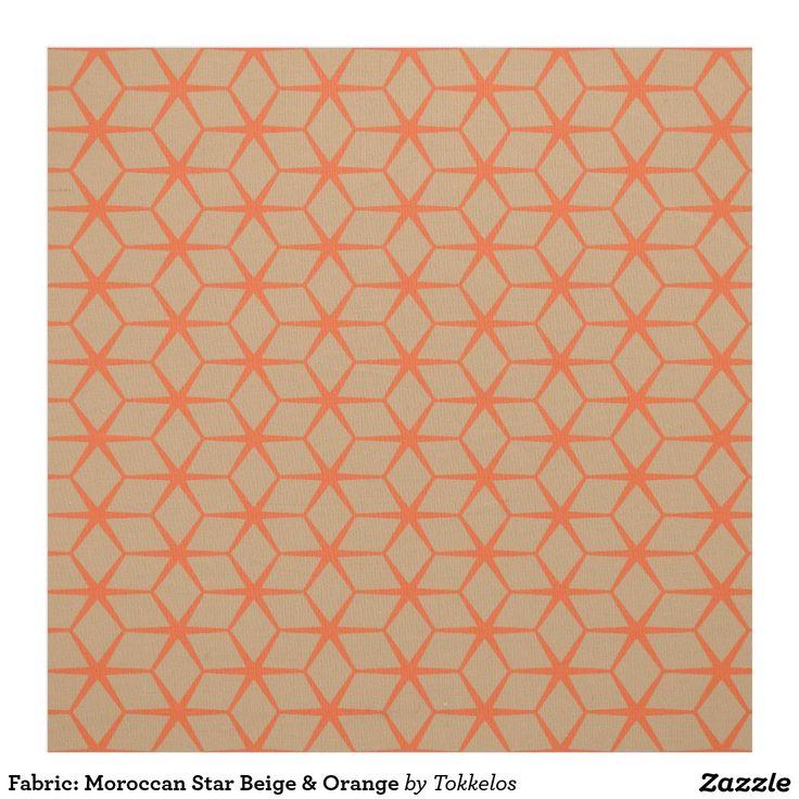 Fabric: Moroccan Star Beige & Orange