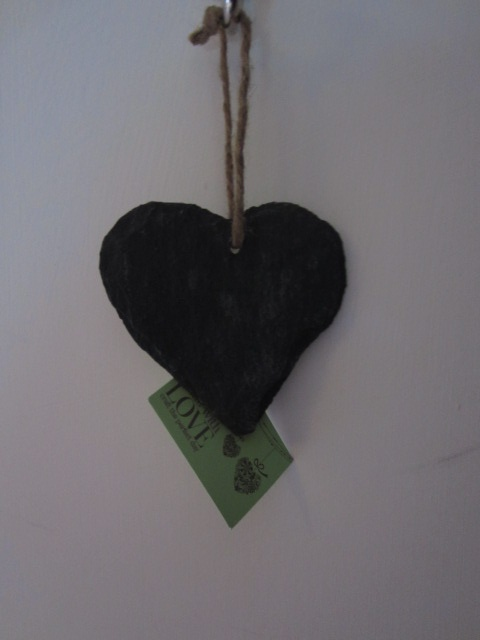 Chalkboards - small heart-shaped slate x2