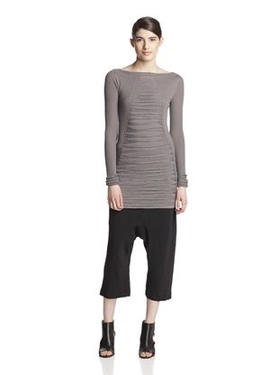 51% OFF Rick Owens Women's Long Sleeve Fringe Tunic (Dust)