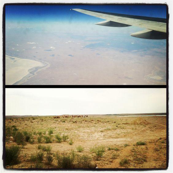 Il deserto uzbeko visto dal cielo e visto da terra. Photo by Riccardo Negro