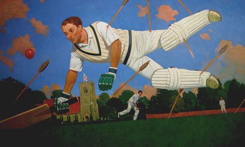 Ashley Green.  The Saint Sebastian of cricket.