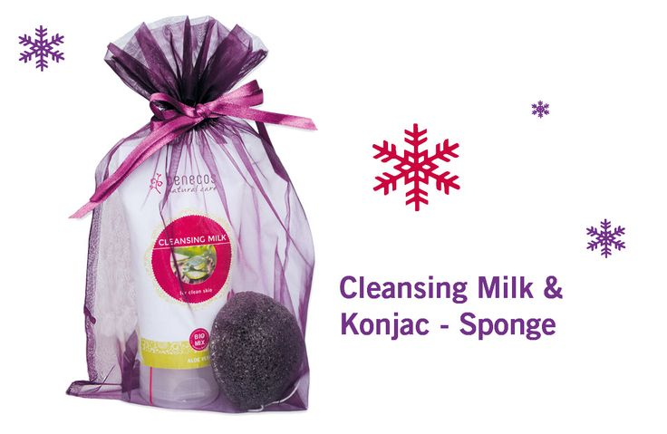 Xmas Set #Benecos Face Cleansing Milk & Konjac Sponge