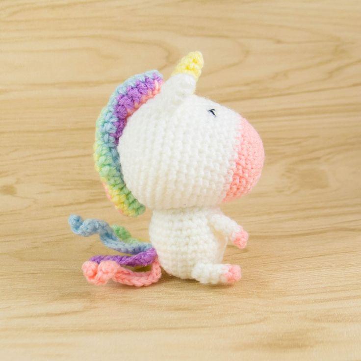 Rainbow Unicorn amigurumi pattern by Snacksies Handicraft Corner