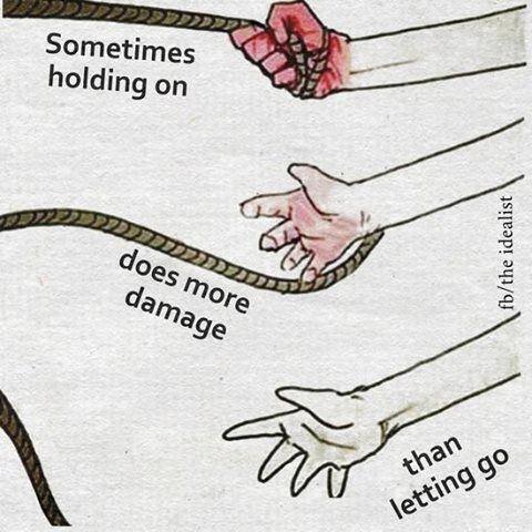 Néha a ragaszkodás több kárt okoz, mint az elengedés. Változtass! http://www.szabadsag.dxnnet.com/