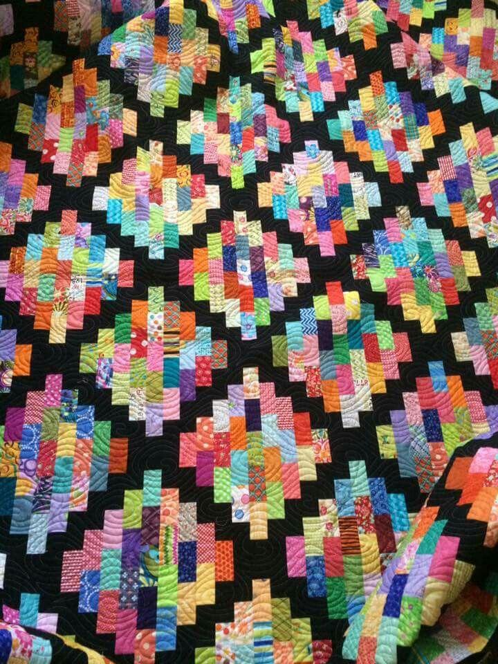 Scrappy quilt set in black                                                                                                                                                                                 More