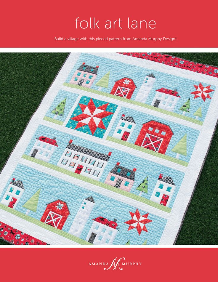 #AurifilDesigner Amanda Murphy Design debuted her new fabric collection, Folk Art Fantasy for Benartex, LLC., at Spring International Quilt Market! With the new fabric line comes a slew of new gorgeous quilt patterns, all of which were quilted by Amanda Murphy on her BERNINA USA Q24 using Aurifil thread! To see more of the collection http://blog.amandamurphydesign.com/introducing-folk-art-fantasy-and-a-giveaway/