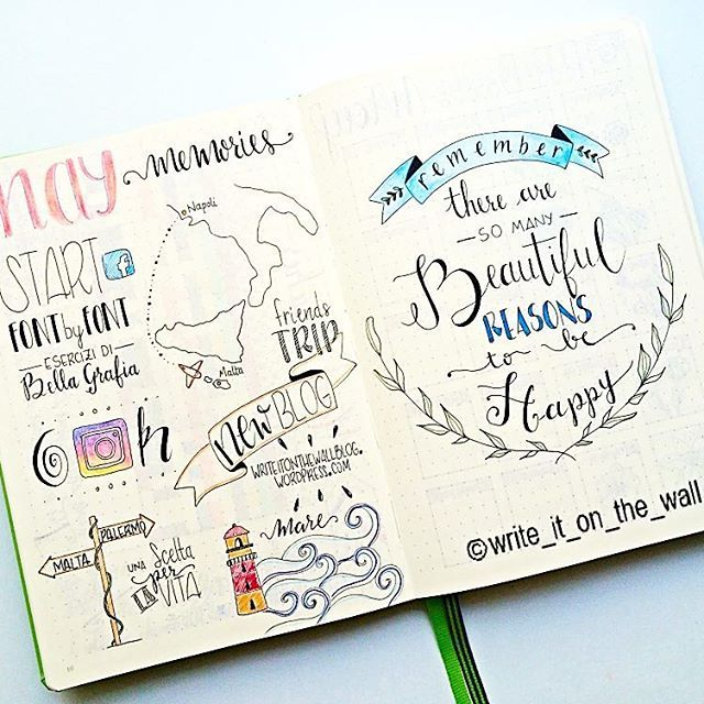 Different lettering styles