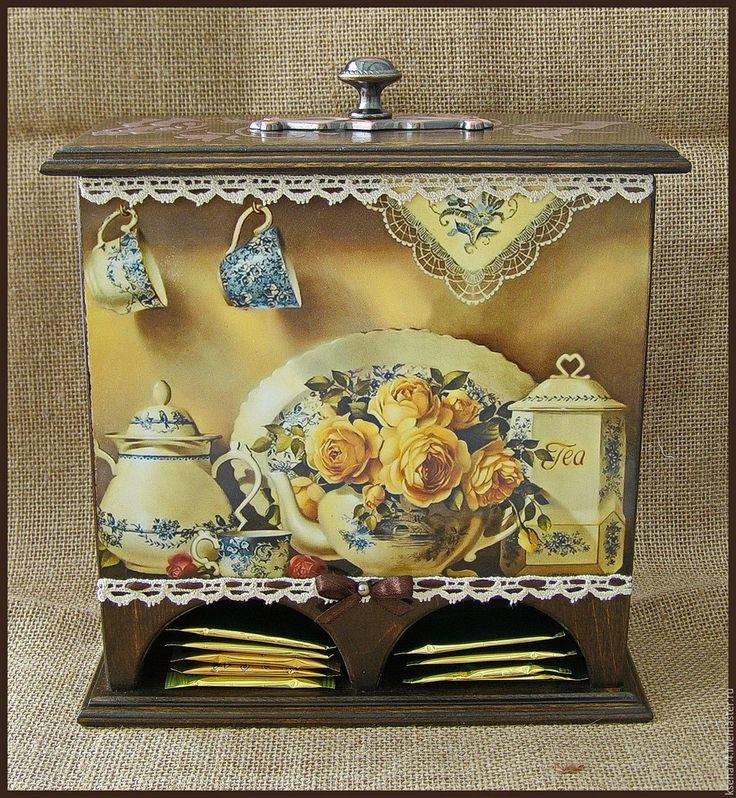 Купить Чайный домик двойной - коричневый, чай, чайный домик, чайный домик декупаж
