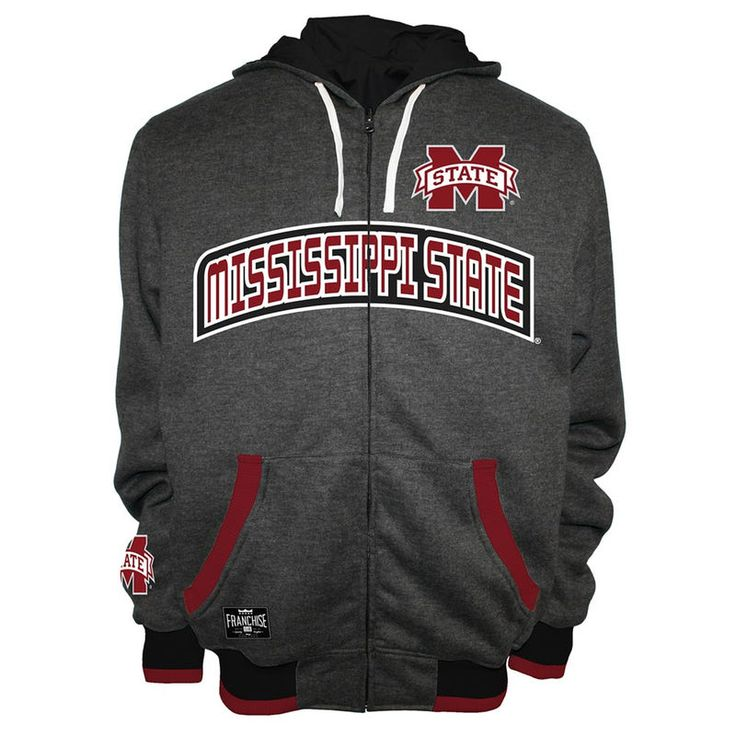Mississippi State Bulldogs Power Reversible Jacket - Charcoal