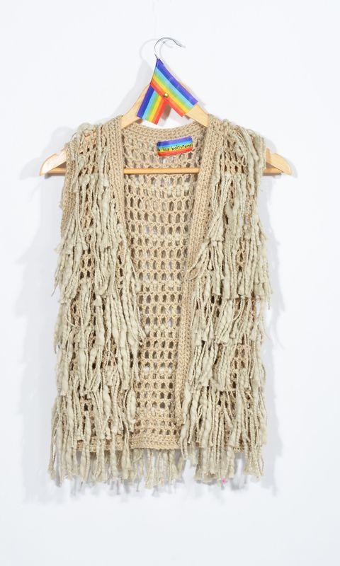 chaleco flecos — de las bolivianas
