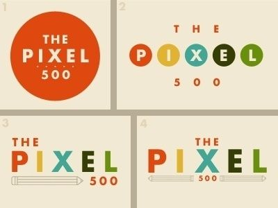 FFFFOUND! | Dribbble - The Pixel 500 logo ideas by Matt Scribner #graphic design