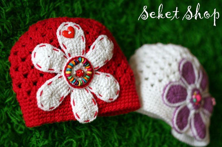 Extra crochet flower hat.