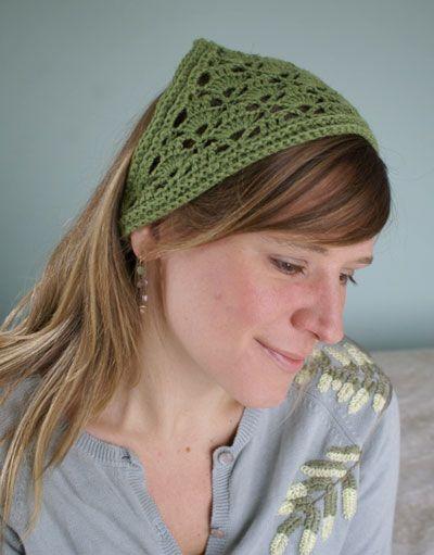 Crochet Hair Kerchief Pattern : ... Pattern, Crochet Bandanas, Crochet Kerchief, Free Crochet, Crochet