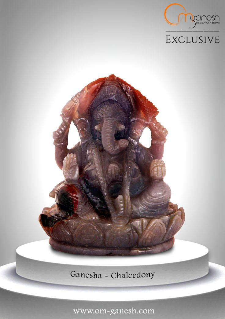 Bring the divine deity into your home with the inviting, soft blue translucence of this Chalcedony Ganesha idol.#Bring #Divine #Diety #inviting #Soft #Blue #Translucence #Chalcedony #Ganesha #Idol #OmGaneshCrafts