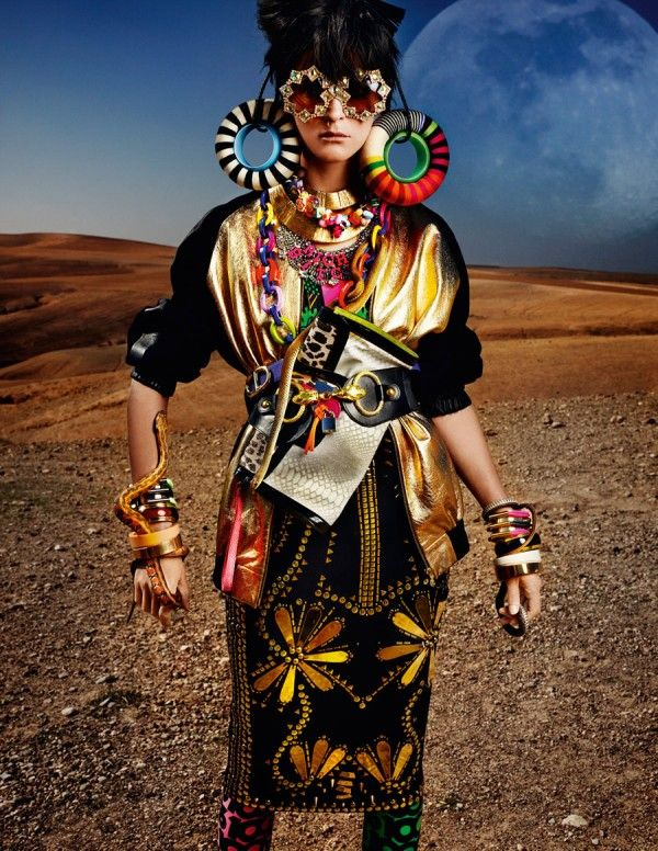"Mario Testino for British Vogue: ""High Plains Drifter"" 