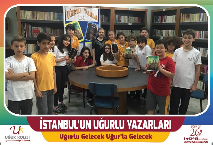 İSTANBUL'UN  UĞUR'LU ÇOCUK YAZARLARI İstanbul  Valiliği İl  Sosyal  Etüt ve Proje Müdürlüğü tarafından düzenlenen ve 2015-2016 eğitim öğretim yılının 2. döneminde uygulamaya konulan ''İstanbul'un Çocuk Yazarları'' adlı projeye öğrencilerimiz Deniz Kınır ''Tek'',  Sudem İridağ ise  ''Korku Doktorları'' adlı kitaplarıyla katılım sağlamışlardır. Uğur'lu yazarlarımızı tebrik eder ve kitap yazma serüvenlerinin devamlılığını dileriz.  Uğur Koleji / Florya