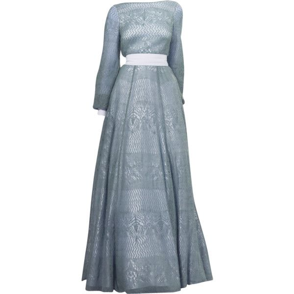 A La Russe - edited by mlleemilee ❤ liked on Polyvore featuring dresses, gowns, blue ball gown, blue evening dresses, blue dress, blue evening gown and blue gown