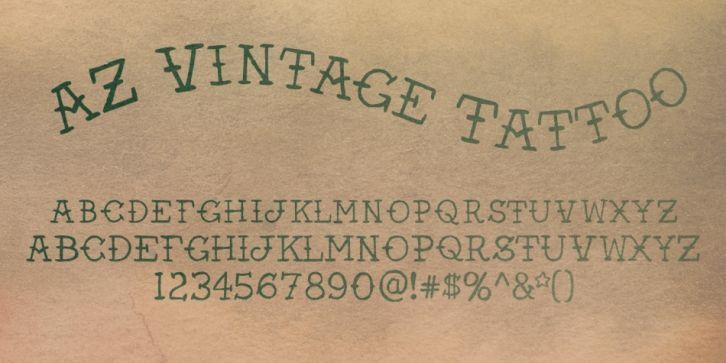 Az Vintage Tattoo Font Download Font Fonts Typography Typeface Webdesign Tattoo Font Vintage Tattoo Tattoo Fonts