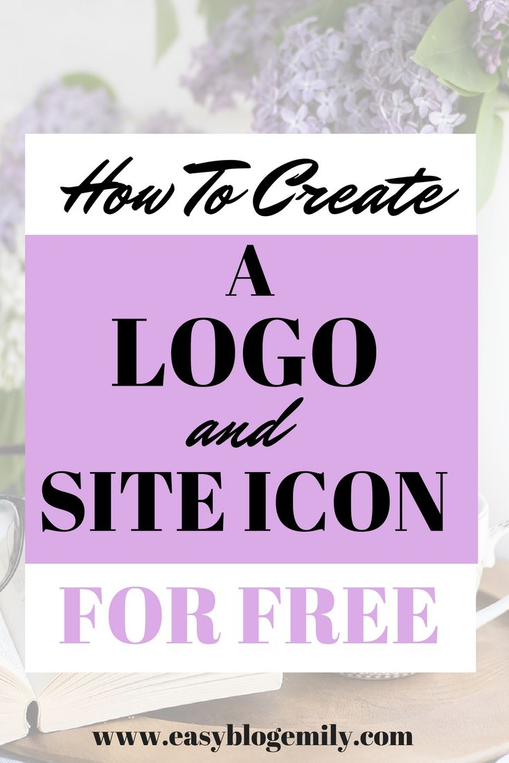 How to make a good logo and site icon for your blog- FOR FREE! A step by step tutorial showing how to make branding material using Canva.