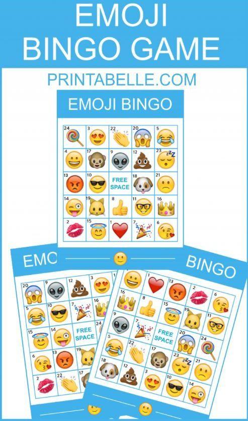 Emoji Bingo Game with Apple Emojis