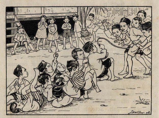 Tarik tambang - J.B. Wolters Illustration