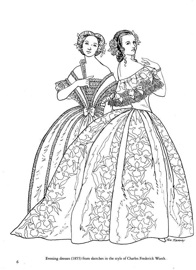 Civil War Fashions Coloring Book Fashion Coloring Book Civil