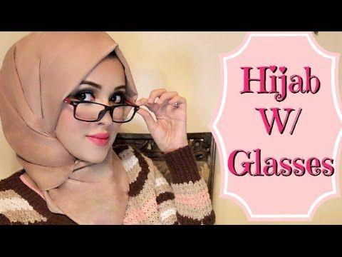 Hijab Tutorial with Glasses كيفية وضع الحجاب مع النظارات - YouTube