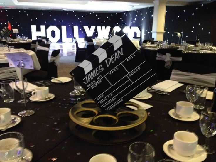 Hollywood Table Decorations Ideas