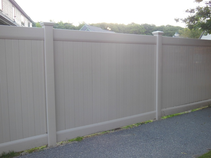 6u0027 High Beige Vinyl Privacy Fence