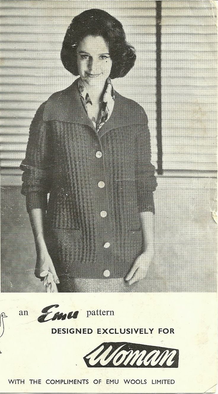 Great vintage cardigan pattern Knitting Projects...