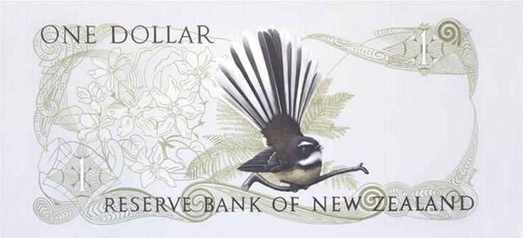 Piwakawaka's One Dollar Note by Jane Crisp - Card and print available through Image Vault Ltd