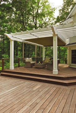 Practicle Powered Awning For Shade Pergola With Canopy In Action  Traditional Exterior