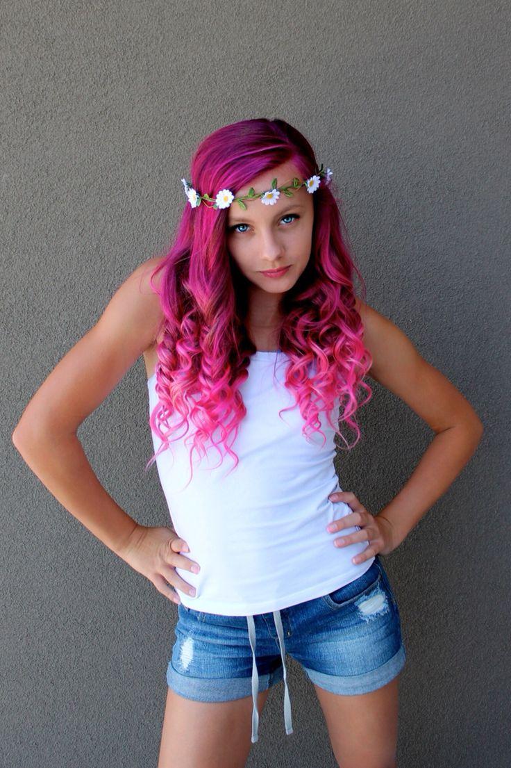 Splat pink hair dye