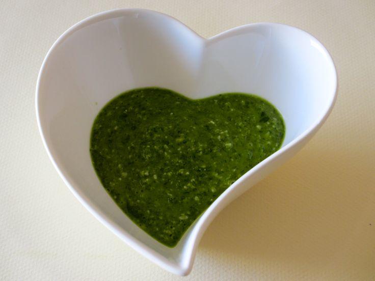 Pesto à l'oseille et à l'huile de sésame