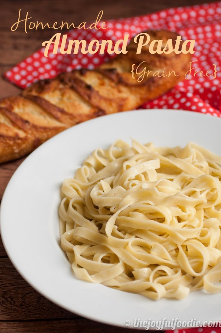 Pasta made of almond flour? Tastes awesome and is just as easy to whip together as traditional homemade pasta. (gluten free, grain free)