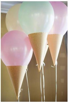 DIY - Ice-Cream Party Balloons