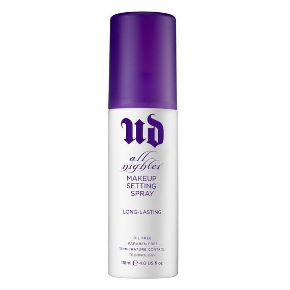 VEGAN ALL NIGHTER  Long-Lasting Makeup Setting Spray  $30  Is makeup meltdown ruining your midnight mojo? Mist on this weightless spray to give your makeup serious staying power.