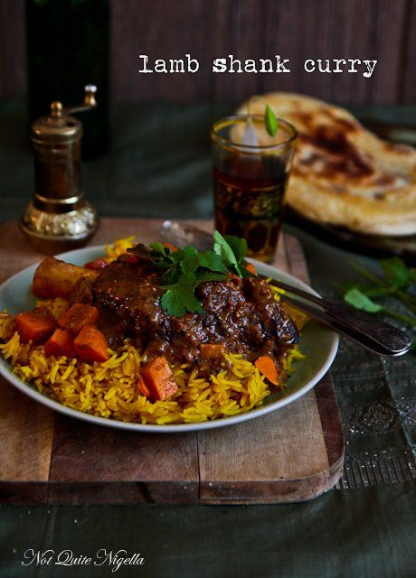 Lamb Shank Korma Curry With Turmeric Rice