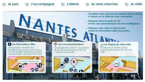 Visite virtuelle aéroport Nantes (utile en géographie)